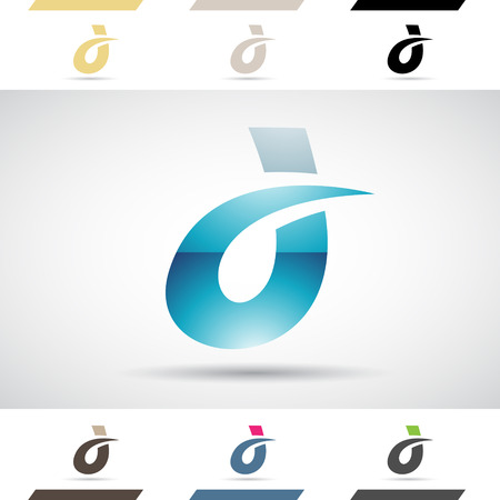 Design Concept of Colorful Stock Logos Icons and Shapes of Letter D, Vector Illustration Stock Photo