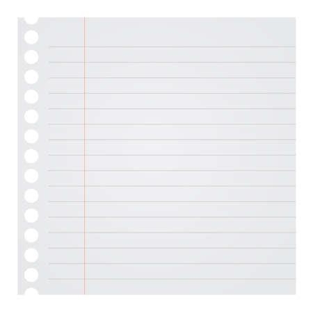 papel de notas: Nota en blanco de papel ilustración vectorial