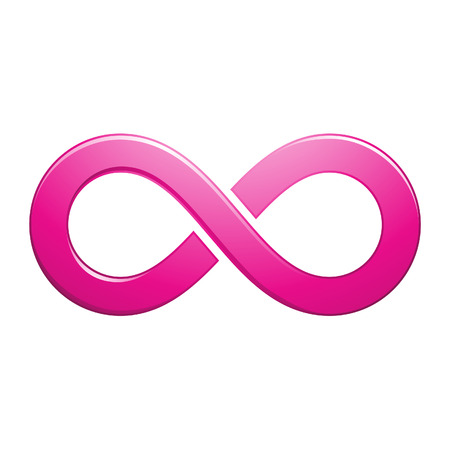 mobius: Illustration of Infinity Symbol Design isolated on a white background Stock Photo