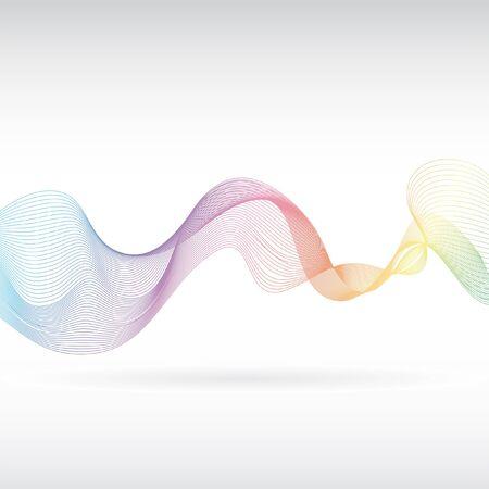 abstract smoke: An abstract rainbow smoke design Stock Photo