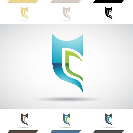 blue green: Design Concept of Colorful Stock Logos Icons and Shapes of Letter C, Vector Illustration Stock Photo