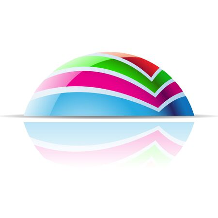 features: Abstract dome logo icon and design element Stock Photo