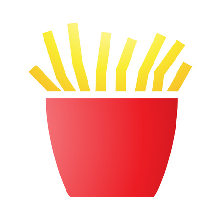 Illustration of French Fries Icons isolated on a white background