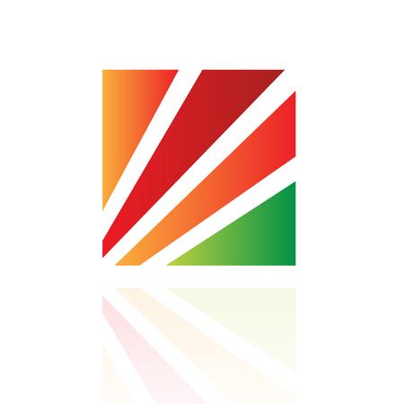 rectangular: Colorful diamond logo icon and design element