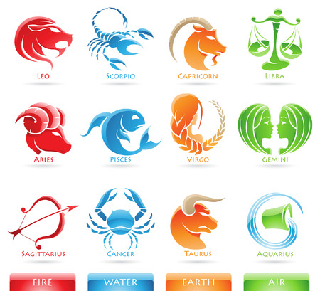 green crab: Glossy zodiacs isolated on a white background Stock Photo