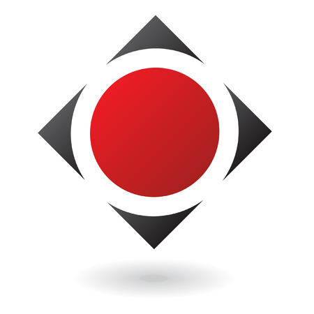 red diamond: Abstract red diamond logo icon and design element