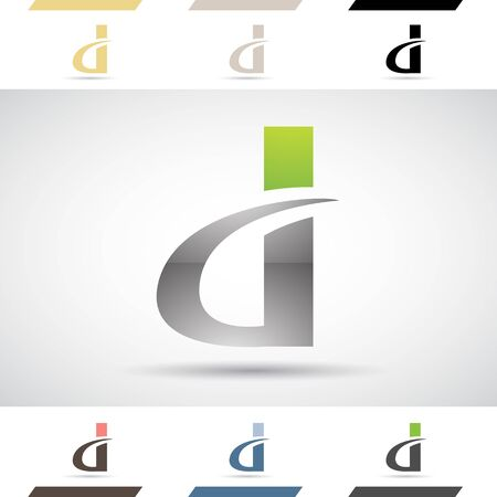 rectangle: Design Concept of Colorful Stock Logos Icons and Shapes of Letter D, Vector Illustration Stock Photo
