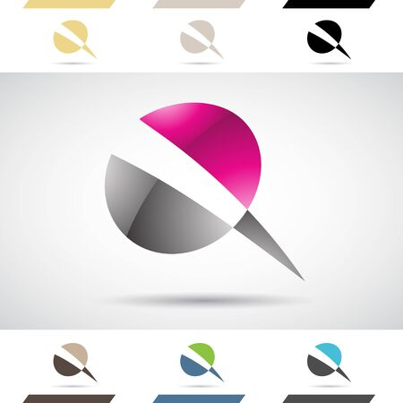 nails: Design Concept of Colorful Stock Logos Icons and Shapes of Letter Q, Vector Illustration