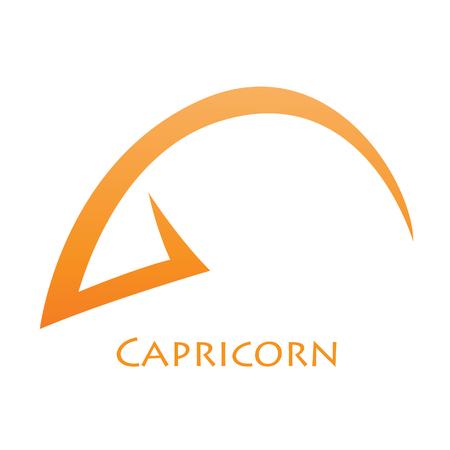 capricornio: Ilustración de simplista Líneas Capricornio muestra de la estrella aislado en un fondo blanco