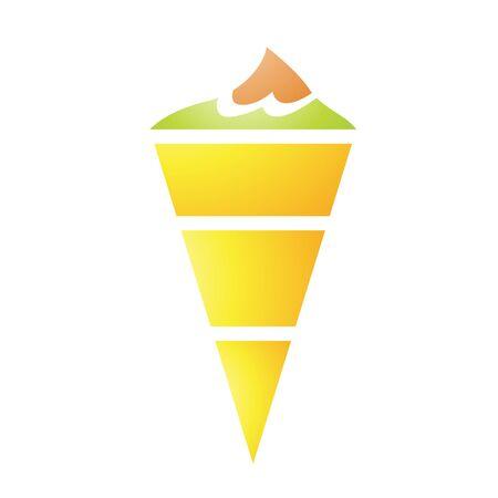 cornet: Illustration of Ice Cream Cornet isolated on a white background