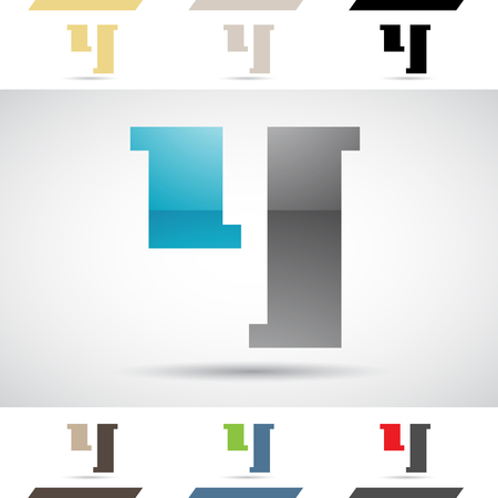 stock clipart icons: Design Concept of Colorful Stock Logos Icons and Shapes of Letter Y, Vector Illustration