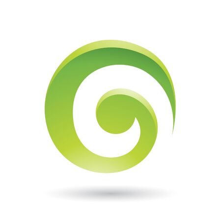 green swirl: Green Swirl Abstract Icon Illustration isolated on a white background Stock Photo