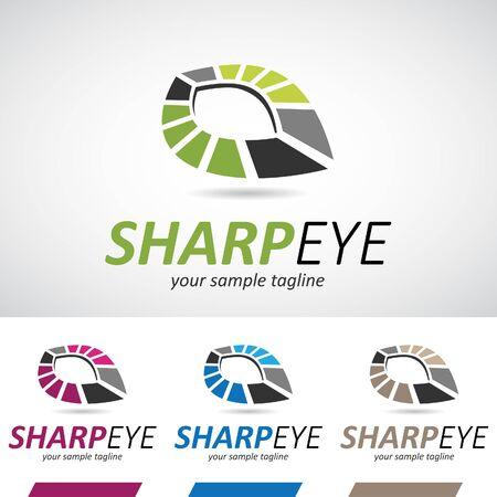 art logo: Abstract Geometric Eye Logo Icon Vector Illustration Stock Photo