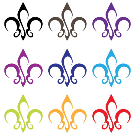 lys: lily of Bosnia or French Fleur de lys Stock Photo