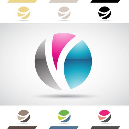 concept design: Design Concept of Colorful Stock Logos Icons and Shapes of Letter O, Vector Illustration Stock Photo