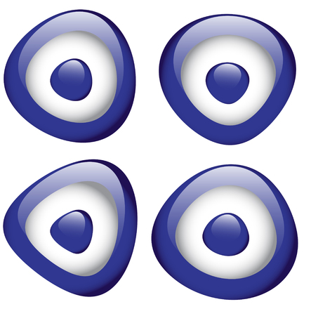 middle eastern: Turkish lucky charm blue evil eye bead Stock Photo