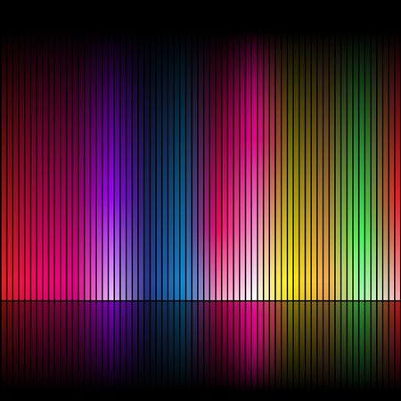 rainbow background: Abstract rainbow colours on a black background