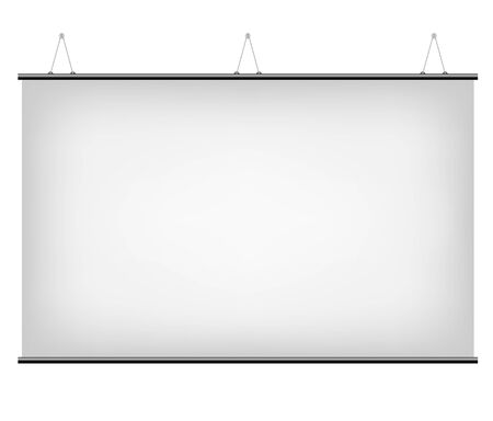 rag: Illustration of White Promotional Canvas Banner isolated on a white background
