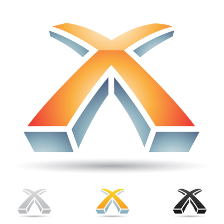 art logo: Vector illustration of abstract icons based on the letter X