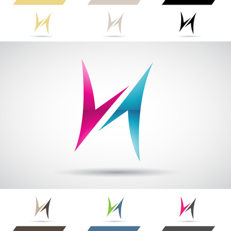 stock clip art icon: Design Concept of Colorful Stock Logos Icons and Shapes of Letter H, Vector Illustration
