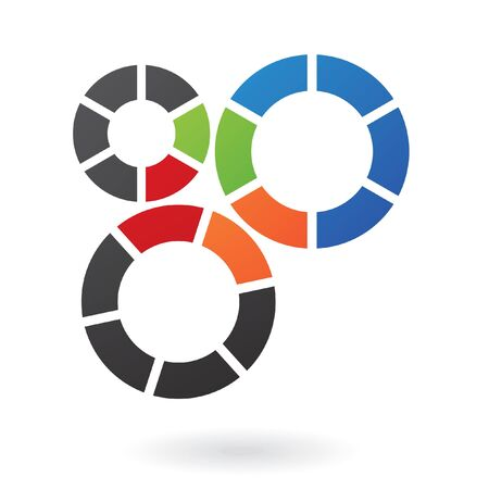 componentes: Resumen logotipo del diente icono y elementos de diseño