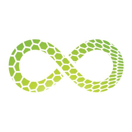 Illustration of Infinity Symbol Design isolated on a white background Stock Photo
