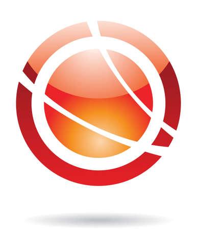 round logo: Abstract round logo icon and design element