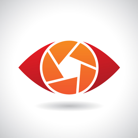 stock clip art icon: Design Concept of a Shape and Icon of a Shutter Eye Stock Photo