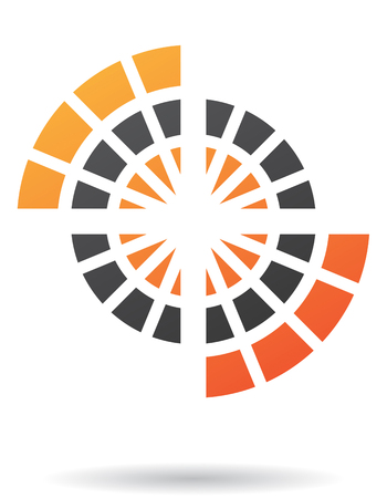 pattern corporate identity orange: Abstract line icon and design element