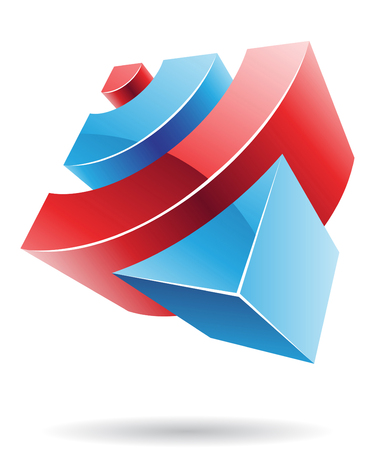 Abstract cubic icon and graphic design