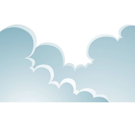 puffy: Illustration of Puffy Clouds Cartoon isolated on a white background