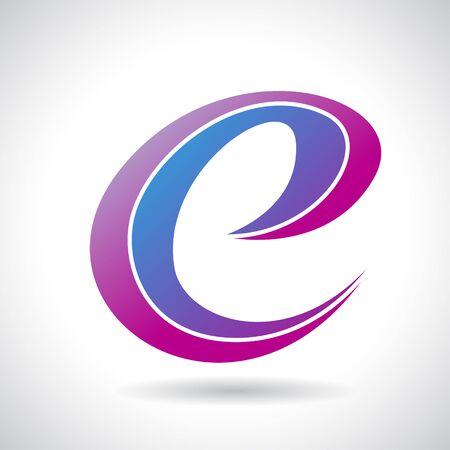 e business: Design Concept of a Colorful Stock Icon of Letter E, Vector Illustration
