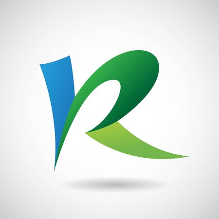 color design: Design Concept of a Colorful Stock Icon of Letter R, Vector Illustration Stock Photo