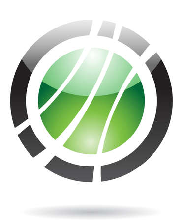 Abstract round icon and design element