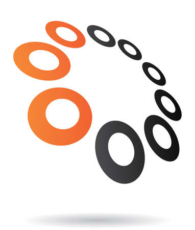 pattern corporate identity orange: Abstract icon and design element Stock Photo