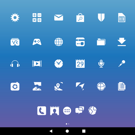 phonebook: Illustration of White Smartphone Apps and User Interface Icons Stock Photo