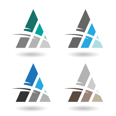 triangulo: Concepto de diseño de un Resumen triangular del icono colorido, ilustración vectorial