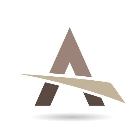 creative arts: Design Concept of a Colorful Abstract Triangular Icon of Letter A, Vector Illustration