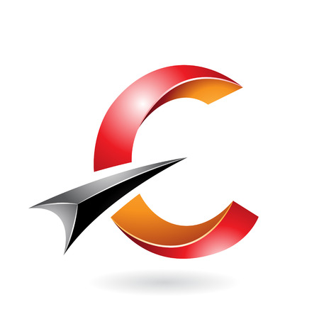 Design Concept of a Abstract Icon of Letter C, Vector Illustration Illustration
