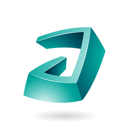 Design Concept of an Abstract Icon of Letter A, Vector Illustration