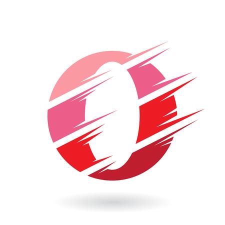 Concepto de diseño de un icono abstracto de la letra O, ilustración vectorial