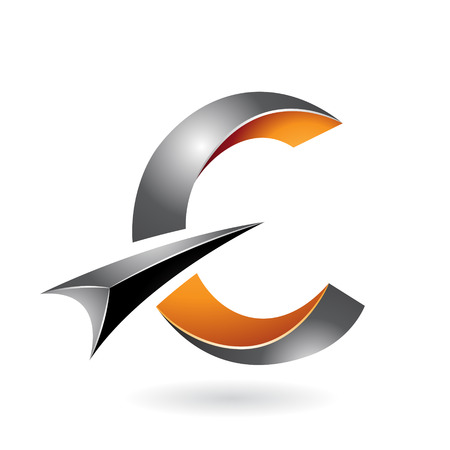Design Concept of a Abstract Icon of Letter C, Vector Illustration  イラスト・ベクター素材