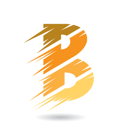 Design Concept of a Abstract Icon of Letter B, Vector Illustration Illustration