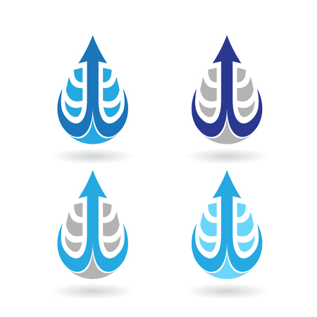 earrings: Vector Illustration of Colorful Water Drops and Earring Shapes isolated on a white background