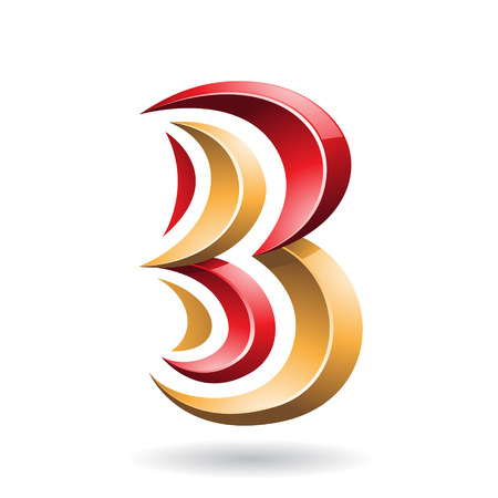 creative arts: Design Concept of a Colorful Abstract Icon of Letter B, Vector Illustration