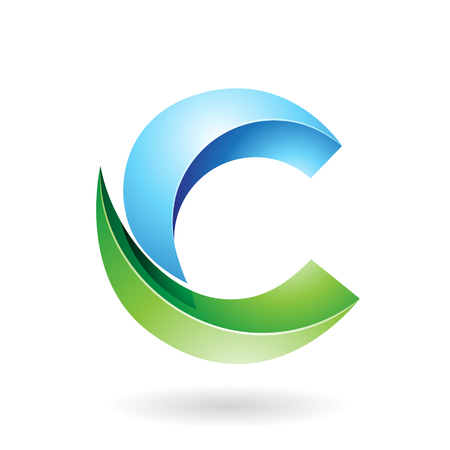 creative arts: Design Concept of a Abstract Icon of Letter C, Vector Illustration Illustration
