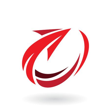 Illustrazione vettoriale di astratto rotazione icona freccia isolato su uno sfondo bianco Vettoriali