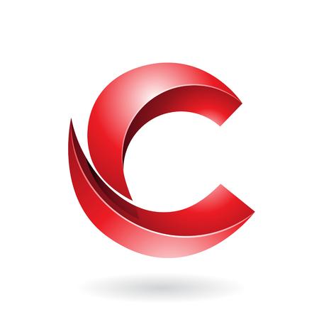 Design Concept d'une icône abstraite de la lettre C, vecteur Illustration