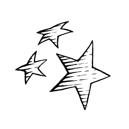 drawings image: Vector Illustration of a Scratchboard Style Ink Drawing of Stars