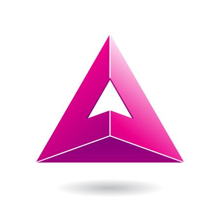 ピンク デザイン文字のカラフルなの抽象的な三角形アイコン A、ベクター グラフィックの概念